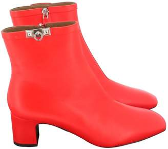 Hermes \N Red Leather Ankle boots