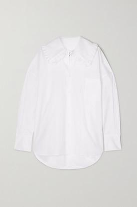 COMME DES GARÇONS GIRL Ruffled Cotton-poplin Shirt - White