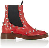 Balenciaga Women's Brogue Leather Ankle Boots-RED