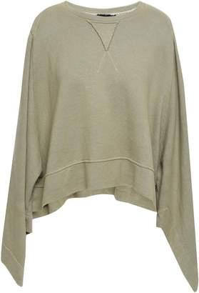Kitx Cutout Draped French Hemp And Cotton-blend Terry Sweatshirt