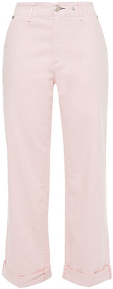 Rag & Bone Eyelet-embellished Cropped High-rise Straight-leg Jeans