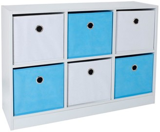 Lloyd Pascal 6 Cube Storage Unit Blue/White