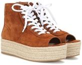Miu Miu Suede Espadrille-style Platform Sneakers