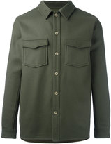 A.P.C. buttoned shirt jacket - men - Polyamide/Cashmere/Virgin Wool - S
