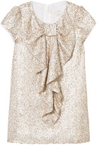 Billieblush Gold Sequin Bow Front Dress