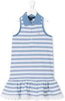 Ralph Lauren striped ruffled dress