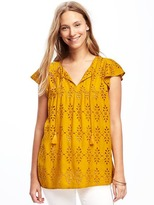 Old Navy Cutwork Swing Top for Women