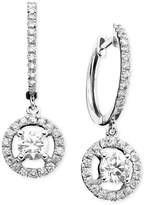 Macy's 14k White Gold Earrings, Diamond Drop (7/8 ct. t.w.)