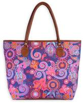 Riah Fashion Colorful Paisley Tote