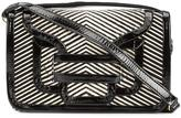 Pierre Hardy striped satchel - women - Patent Leather/Calf Hair - One Size