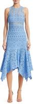 Jonathan Simkhai Floral Crochet Cotton Midi Dress