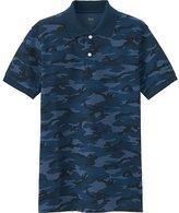 Uniqlo Men's Dry Pique Camo Print Polo Shirt