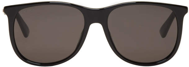 Gucci Black Square 80s Sunglasses