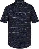 Hurley Men's Print Shop Stripe Graphic-Print Cotton Shirt