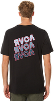RVCA Electric Stack Mens Tee Black