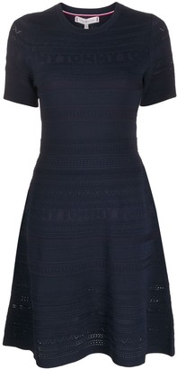 Tommy Hilfiger Flared Knitted Logo Dress