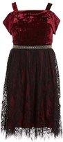 Xtraordinary Big Girls 7-16 Velvet Cold-Shoulder Fit-And-Flare Dress