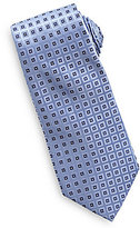 Roundtree & Yorke Big & Tall Diamond Neat Traditional Silk Tie