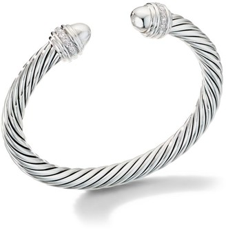 David Yurman Cable Bracelet with Pave Diamonds