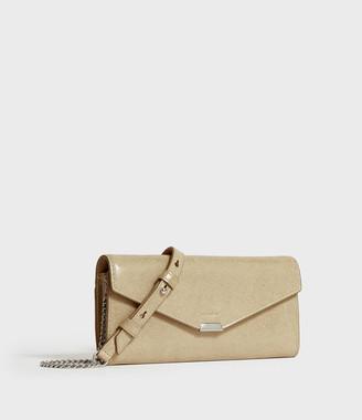 AllSaints Glitz Chain Leather Wallet