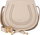 Chloé Women's Marcie Crossbody Saddle Bag-WHITE
