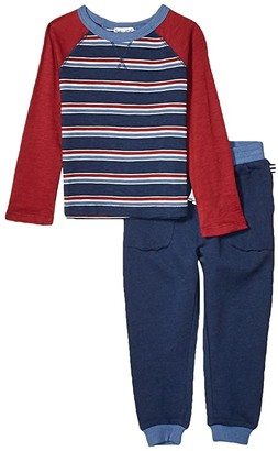Splendid Littles Yarn-Dyed Stripe Top Set (Toddler/Little Kids/Big Kids) (Phantom Ink) Boy's Active Sets