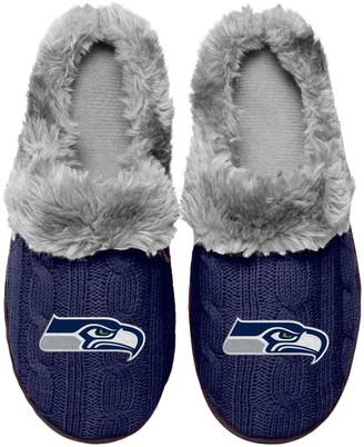 Women's Seattle Seahawks Cable Knit Slide Slippers