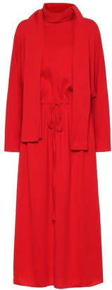 Valentino Stretch-crApe midi dress