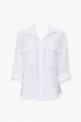 Forever 21 Roll-Tab Sleeve Shirt