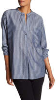 Vince Striped Tunic Blouse