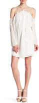 Blu Pepper Halter Cold Shoulder Dress