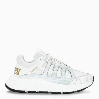 Versace White/gold Trigreca sneakers