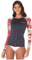 Roxy Sunny You Long Sleeve Zip Rashguard (Deep Claret Swim Sept) Women's Swimwear