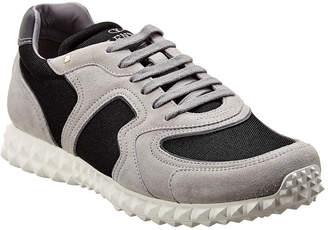 Valentino Suede & Mesh Sneaker