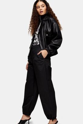 Topshop Womens Black Tie Hem Joggers - Black
