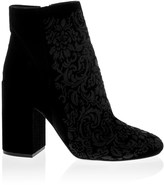 Jessica Simpson Embroidered Block Heel Ankle Boots
