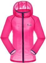 RAINSTAR Women's Lightweight Anti-UV Softshell Jacket Quick Dry Thin Hooded Skin Coat US M (Asian Tag 2XL)
