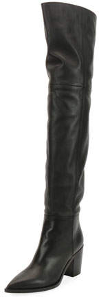 Gianvito Rossi Leather Western Over-The-Knee Boots
