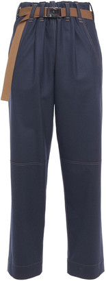 Brunello Cucinelli Belted Wool-blend Tapered Pants