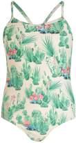 boohoo Girls Cactus Print Swimsuit
