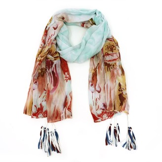 Tickled Pink Womens Floral Escape Scarf