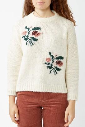 Des Petits Hauts Ecru Clemille Jacquard Sweater - Beige / XS