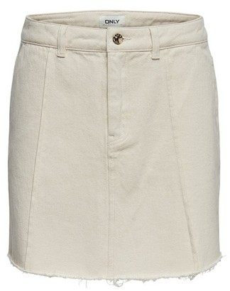 Dorothy Perkins Womens **Only Raw Edge White Denim Skirt, White