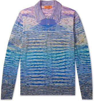 Missoni Striped Wool-Blend Polo Shirt