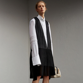 Burberry Silk and Cotton Dropped-waist Shirt Dress
