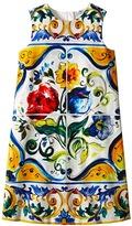 Dolce & Gabbana Escape Maiolica Flower Dress (Big Kids)