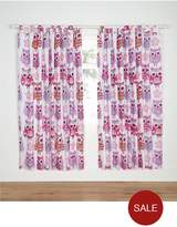 Catherine Lansfield Lined Owl Curtains