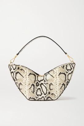 S.JOON Tulip Python-effect Leather Shoulder Bag - Snake print