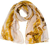 Jean Paul Gaultier Multicolor Printed Scarf