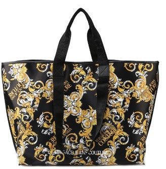 Versace Jeans Couture Baroque Print Tote Bag